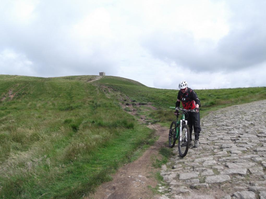 Gillo recovering after a crash on the cobbles 14.07.12